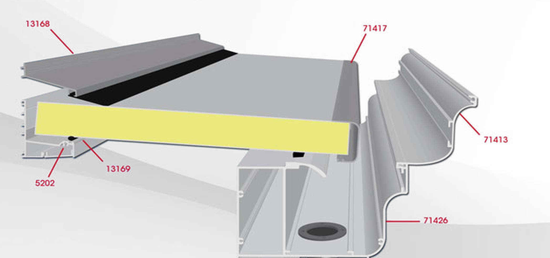 Techos panel sandwich talleres azul for Panel sandwich aluminio blanco