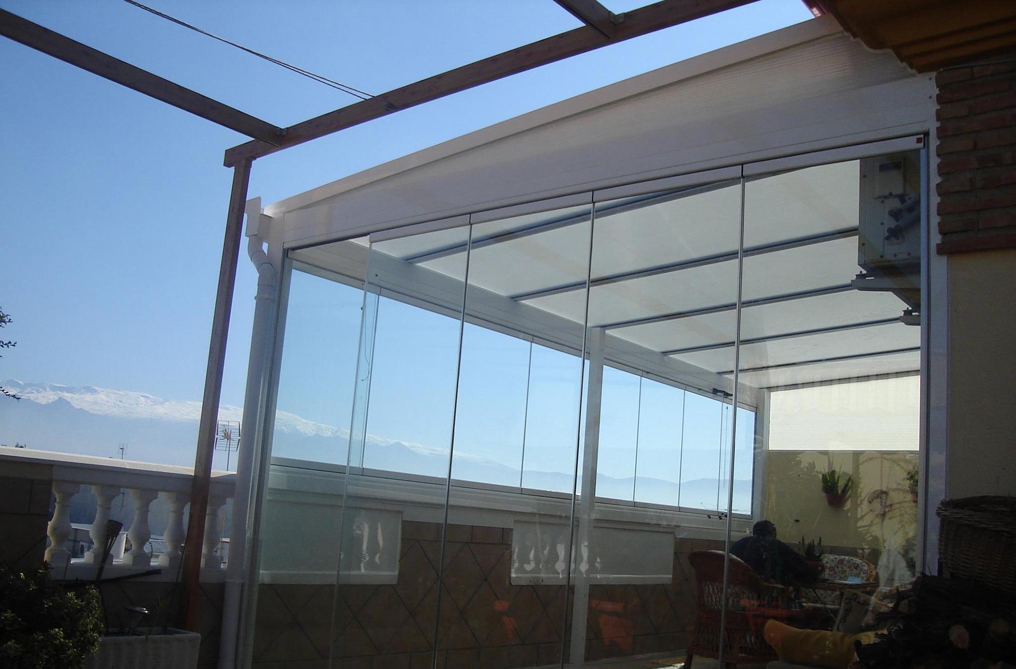 techos fijos transparentes talleres azul